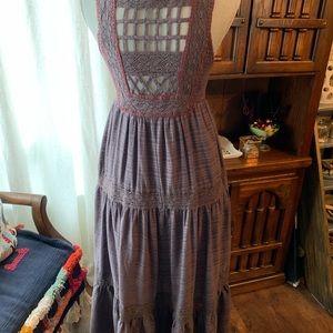 Free People midi cotton dress
